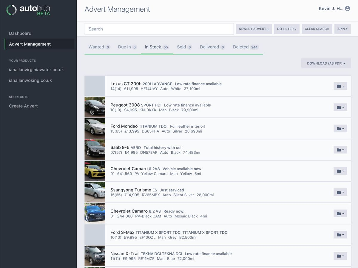 Autohub Stock Management